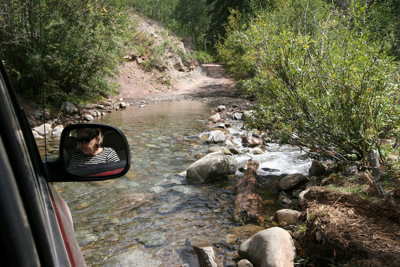 Driving through the streams