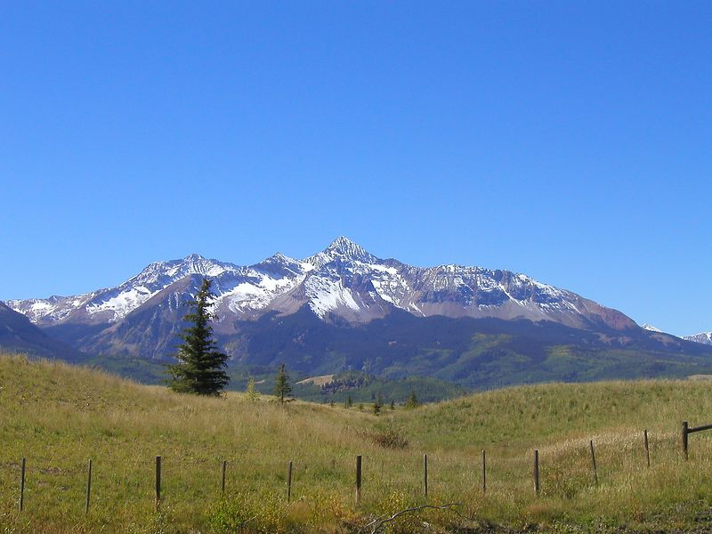 View on the way from Telluride to Ophir