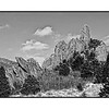 Winter in the Garden of the Gods after a light snow; best viewed in the largest sizes