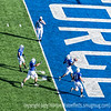 This Air Force player enters the end zone to score Air Force's first touchdown in the Air Force/Army game, after making an 85-yard kickoff return.