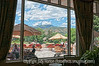 The view through a window in the Broadmoor Hotel in Colorado Springs; best viewed in the largest sizes