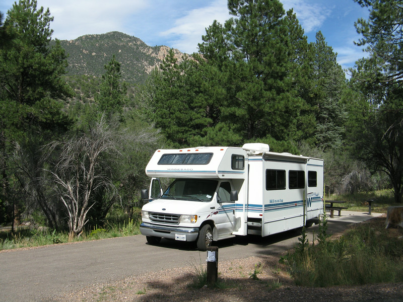 Our first night we camped in Dean Gardner campground at Pine Valley, UT. Very nice campground!