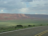 Vermillion Cliffs as we drove out of the park and headed east.