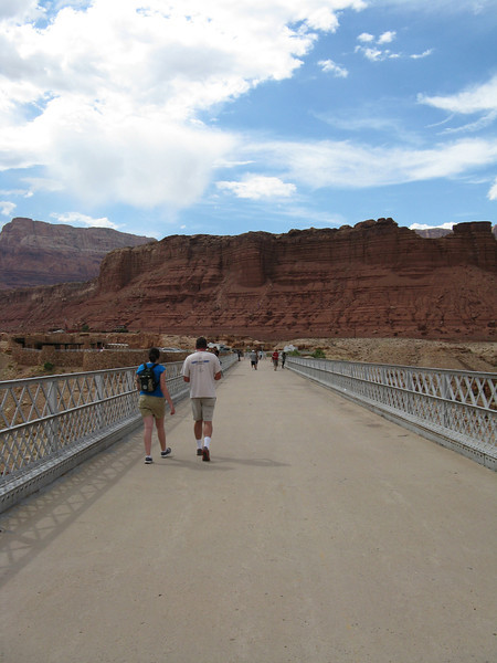 The old narrow bridge is for pedestrians only.