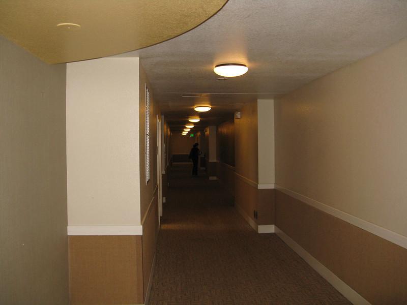 Interior hallway at Bear Creek Apartments.