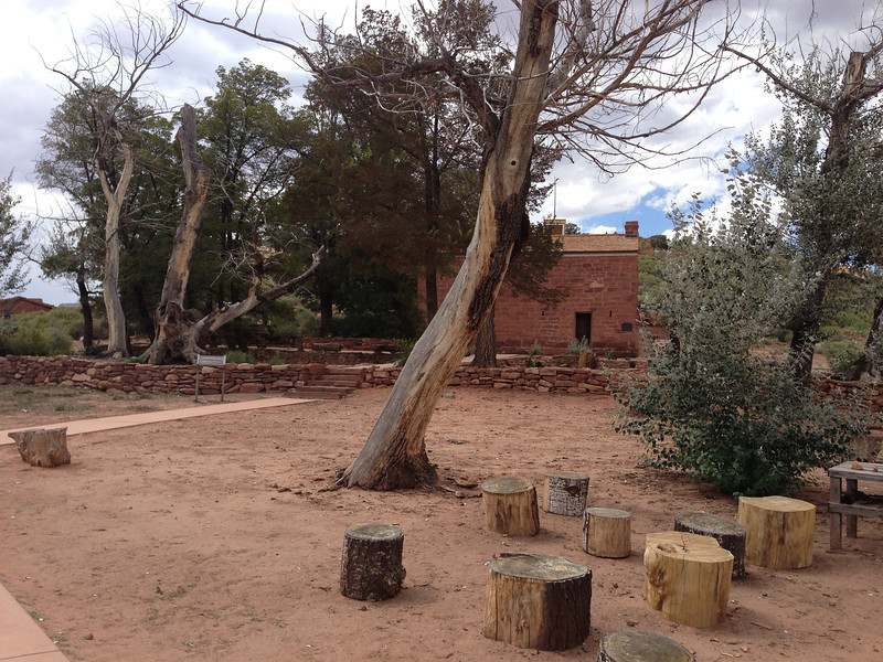 We drove from Las Vegas to the North Rim of the Grand Canyon and stopped along the way at Pipe Springs National Monument.