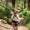 Frank on the Hermosa Creek Trail - closer