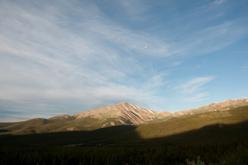 View off Boreas Pass Road - after sunrise.