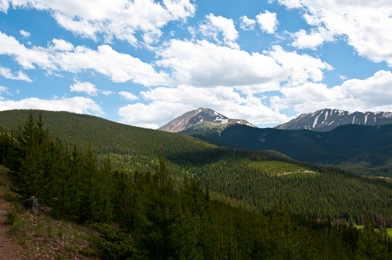 Looking back up towards Mt. Guyot.  I descended down the valley and around the bend to the current vantage point.
