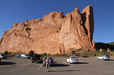 """Parking lot at """"Garden of the Gods"""""""