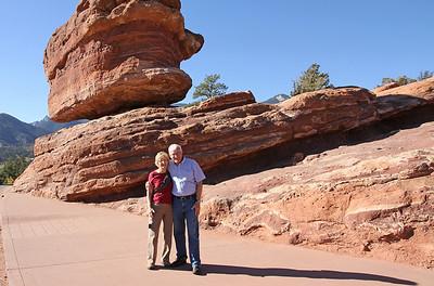 Visitors at Balancing Rock