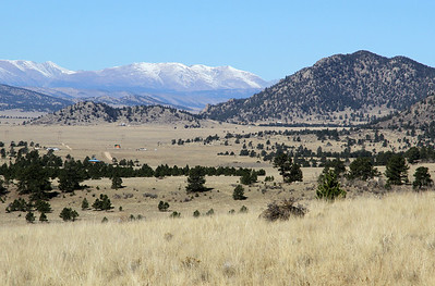 The high mountains of Colorado to the west
