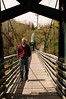 Bruce on walking bridge over Animas River