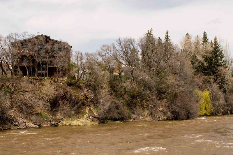 Walking along the Animas River, which runs through Durango