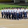 Freshman cadets practicing drill on the parade ground.