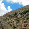 The terrain gets mighty rocky and bare on the last 1,000 feet of the way up Pike's Peak.