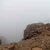 The summit of Pike's Peak was shrouded in cloud while we were up there. That was cool.