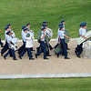 We were there in the summer. These new cadets are marchng their few possessions into their new barracks.