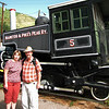 My wife and I about to go up Pike's Peak via the cog railway. That's the way to do Pike's Peak. Sit back and enjoy the scenery, rather than worry about driving off a cliff.