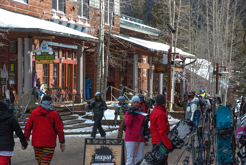 Keystone, COl, main street from the Slopes