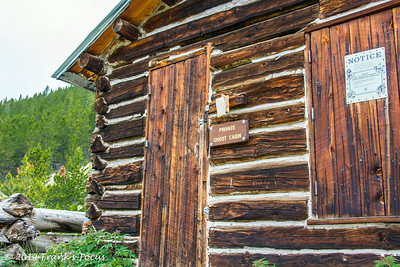 One of the old buildings left standing in Chipeta City near Independence Pass, along Hwy 82 south of Aspen, CO
