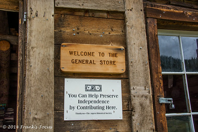 """""""General Store"""" at the old Independence townsite of Chipeta City -- currently being used by the Archaeological  team working to uncover the history of this site."""