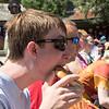 Dante eating a pretzel