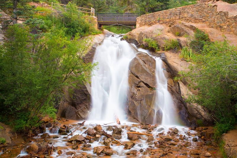 Waterfall further up Cheyenne Canyon