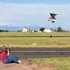 Kathy getting a takeoff shot