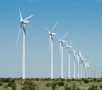 Texas Windmill Farm - On the road to Colorado - 2013  Copyright ©  2013 - Photo by Barry Jucha Texas -