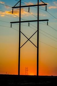Texas power lines - On the road to Colorado - 2013  Copyright ©  2013 - Photo by Barry Jucha Texas -