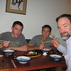 Chowing down on sushi - fall -8'