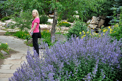 Marsha in the Betty Ford Gardens in Vail, Colorado