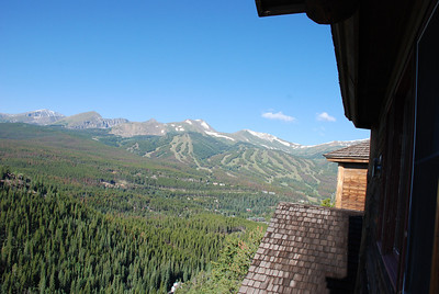 Breckenridge -The Lodge at Breckenridge, August 1.   View towards ski runs above Breckenridge.