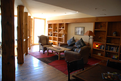 August 1, Saturday, Breckenridge.   Commons area in Lodge at Breckenridge.