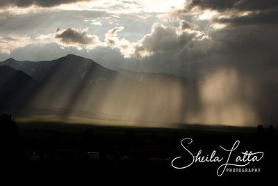 Sunrays after the storm in Westcliffe.