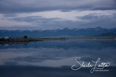 Lake DeWeese, outside of Westcliffe, CO at sunrise.