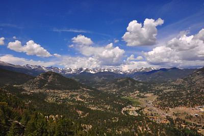 VIew from the top of the Aerial tramway