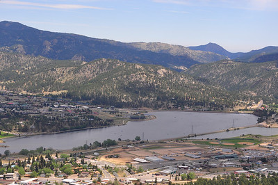 Lake Estes viewed from the Estes Park Aerial Tramway