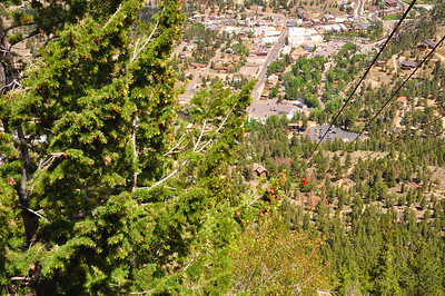 View from the top of the Estes Park Aerial Tramway