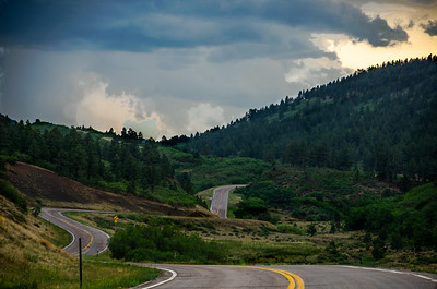 Long and Winding Road.  Hwy 12 near Cuchara  Copyright ©  2013 - Photo by Barry Jucha
