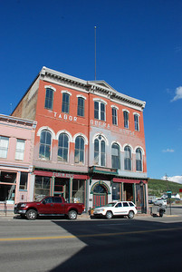 The Tabor Theater, across the street from the Silver Dollar Saloon,