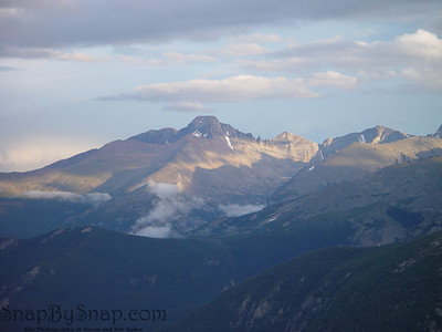 Long's peak towering above its neighbors in Rocky Mountain National Park.