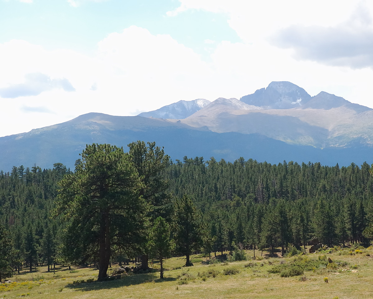 Long's Peak with First Snow