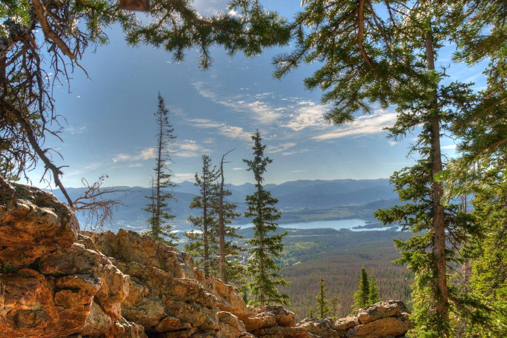 Tone mapped image from Buffalo Mountain looking out toward Dillon, Colorado.