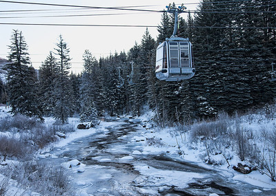 ski lift over creek