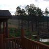 Views from bed and breakfast, N of Woodland Park.  Looking at area of  forest devastated by fire.
