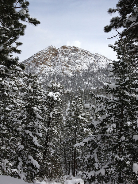 Estes Park looks beautiful with a layer if spring snow.