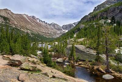 Mills Lake in Rocky Mountain National Park