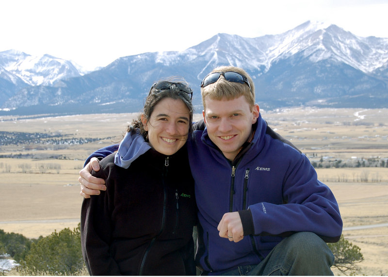 Michelle and Roderick in front of Mt. Princeton, Colorado